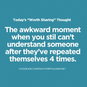 Quotes on Awkward Moments and Misunderstanding