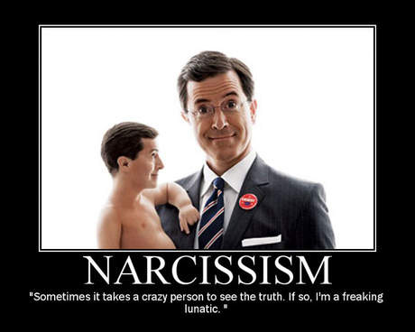 stephen colbert narcissism