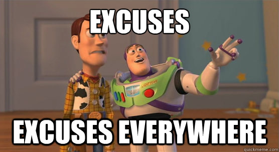 buzz light year on excuses