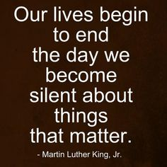 silent about the things that matter martin luther king jr