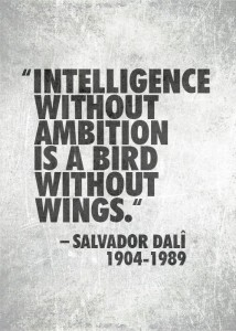 Salvador dali ambition quote