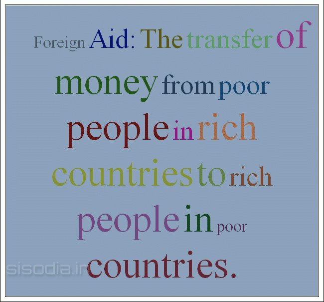 should rich countries help the poor The aim of the $20bn ($12bn) package is to help poor countries feed themselves rather than us doling out millions in food aid to keep them alive and one day soon they might even be able to feed .
