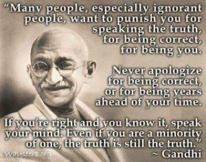 Gandhi Quote on Truth