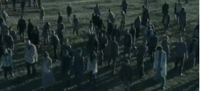 walking dead flash mob