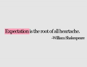 Shakespeare Quote on Expectation