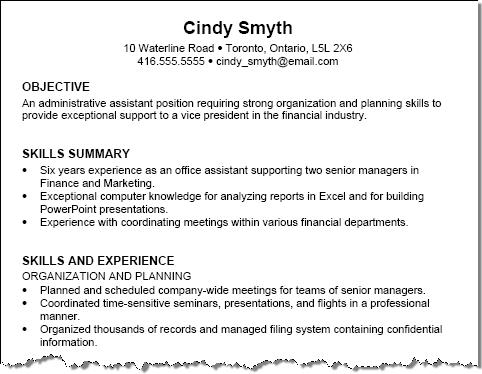 Elegant Example Resume With No Photo