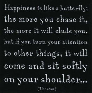 Thoreau Happiness Quote