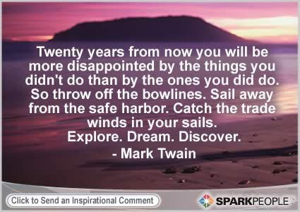 mark twain quote on regret
