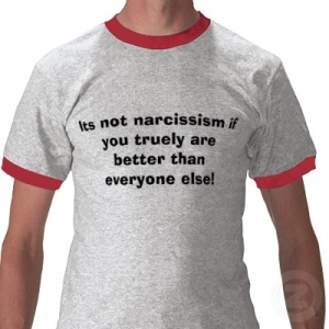 narcissistic t shirt better than everyone else