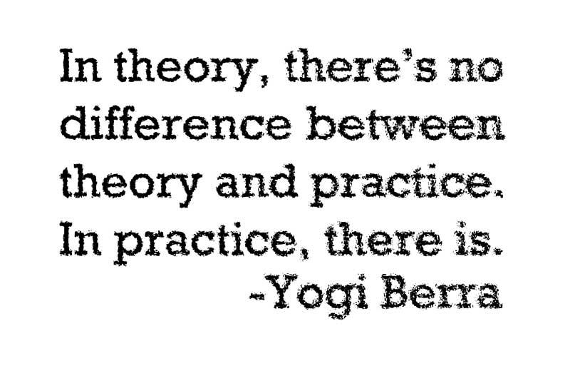 Yogi Berra Quote on Practice