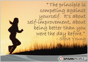 Self Improvement quote steve young