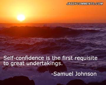 Samuel Johnson Confidence Quote