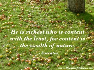 Socrates Quote on Wealth