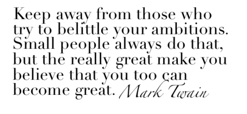 Best Mark Twain Quote Ambition