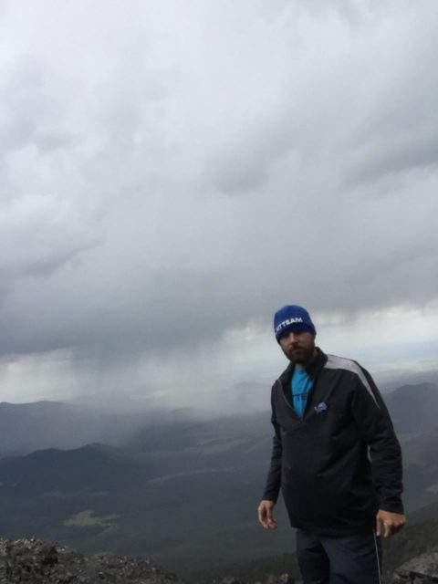 Ontop of Mt Humphrey in Storm